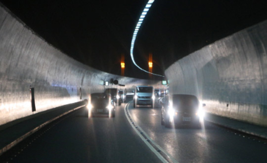 Active Solar Road Stud Application in Tunnel