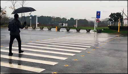 solar road studs in Pedestrian Crossing System