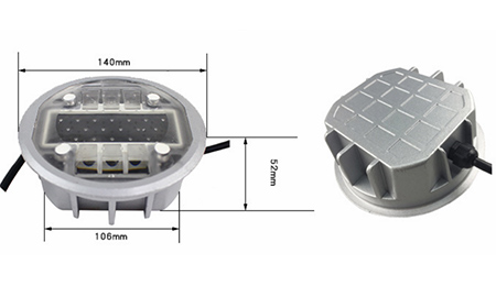 Active solar road stud