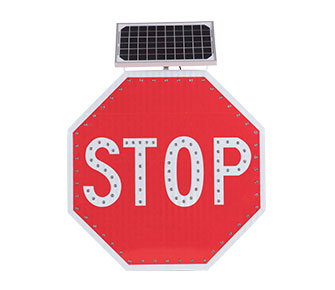 Solar powered led stop signs