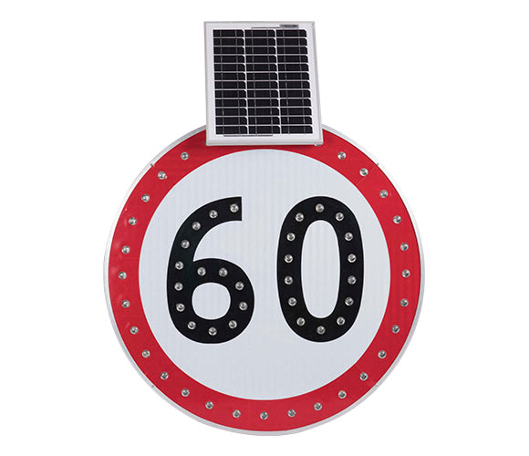 Solar Speed limited sign