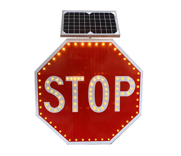 Solar powered led stop signs_1