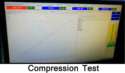 solar road stud comperession test