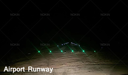 solar road stud in airport