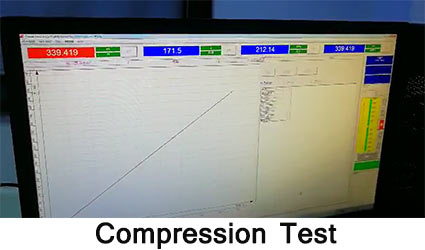 solar road stud compression test