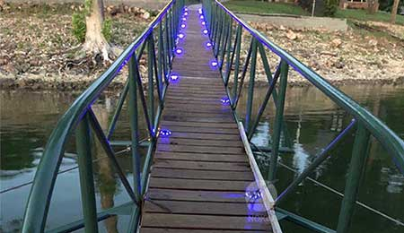 led road stud on bridge